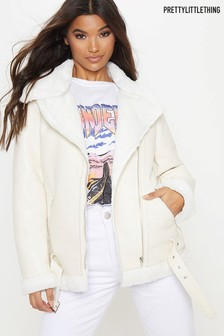 PrettyLittleThing Aviator Coat