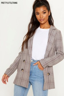 PrettyLittleThing Double Breasted Boyfriend Blazer
