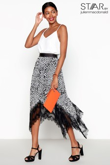 Star By Julien Macdonald Leopard Print Pleated Hem Skirt