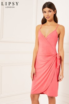 Lipsy Strappy Wrap Dress