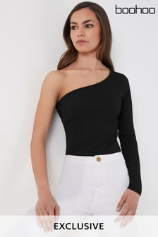 Boohoo One Shoulder Bodysuit