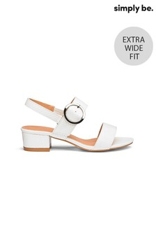 Simply Be Low Block Heel Extra Wide Fit Sandals