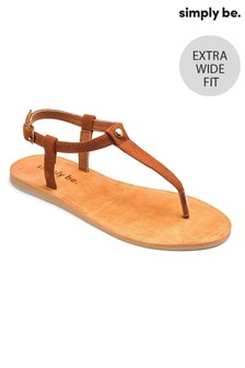 Simply Be Extra Wide Fit Toe-Post Sandals