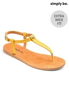 Simply Be Extra Wide Fit Toe-Post Sandals    `