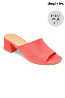 Simply Be Extra Wide Fit Block Heel Mule Sandals