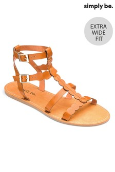 Simply Be Gladiator Extra Wide Fit Sandals