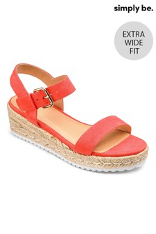 Simply Be Espadrille-Sandalen, extraweite Passform