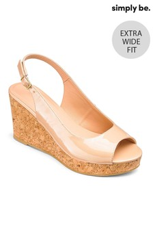 Simply Be Extra Wide Fit Slingback Wedges