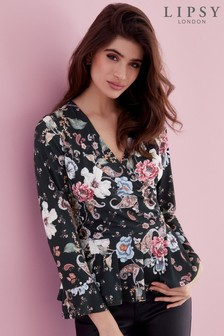 Lipsy Paisley Floral Wrap Top