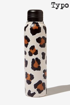 Typo Leopard Print Metal Waterbottle 350ml