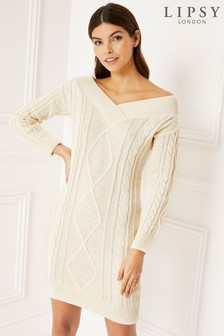 Lipsy Off The Shoulder Cable Tunic