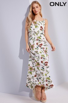 Only Botanical Print Maxi Dress