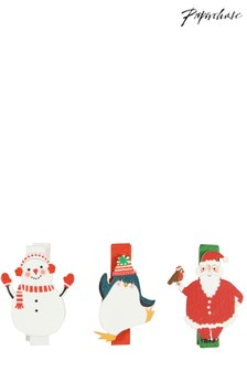 Paperchase Christmas Character Pegs