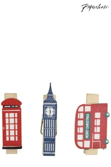 Paperchase London Design Christmas Pegs