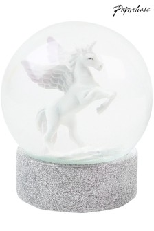 Paperchase 100mm Unicorn Christmas Snow Globe