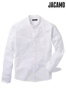 Camisa Oxford elástica con cuello henley de Jacamo