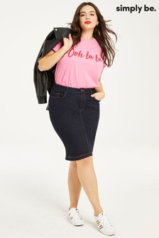 Simply Be Denim Skirt