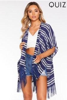 Quiz Stripe Kimono