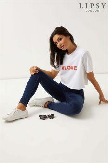 Lipsy Love Cropped T-Shirt