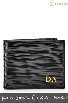 Personalised EPI Leather Wallet By HA Designs