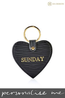 Персонализированный брелок для ключей с сердцем HA Designs