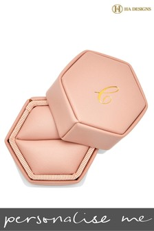 Personalised Hexagon Ring Box By HA Designs
