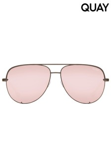 Quay Australia High Key X Desi Mini Aviator Sunglasses