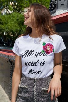 Lipsy All You Need Is Love T-shirt