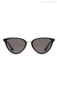 Quay Australia Rumours Black Cat Eye Sunglasses