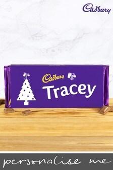 Personalised Cadbury Dairy Milk Bar 360g with Christmas Tree Emoji By Yoodoo