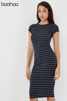Boohoo Ripped Cap Sleeve Bodycon Dress