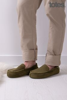 Totes Isotoner Airtex Suedette Moccasin