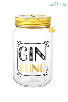 Sass & Belle Gin Fund Money Jar