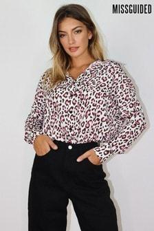 Missguided Leopard Print Shirt