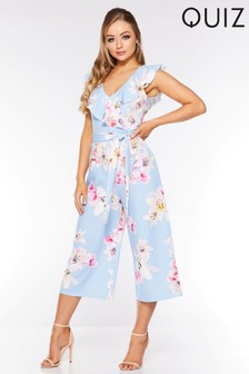 Women's Clothing Hearty Glamorous Floral Jumpsuit Uk Size 8 Brand New Attractive Designs; Clothing, Shoes & Accessories