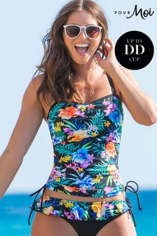 Pour Moi Miami Brights Removable Straps Underwired Tankini