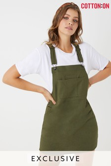 Cotton On Linen Blend Pinafore