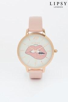 Lipsy Glitter Lips Watch