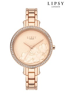 Lipsy Embossed Floral Watch