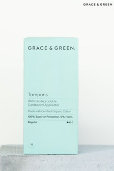 Grace & Green Organic Tampons with a Biodegradable Applicator Regular