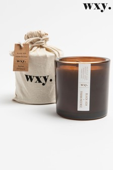 Wxy Big Amber Candle 12.5oz Black Ash + Frankincense