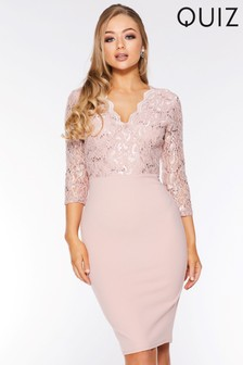 Quiz Sequined Lace Dress