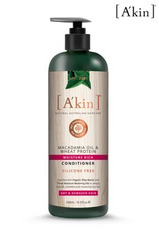 A'kin Moisture Rich Macadamia Oil & Wheat Protein Conditioner