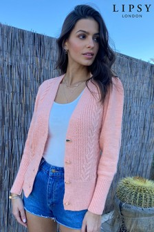 Lipsy Button Through Cable Cardigan