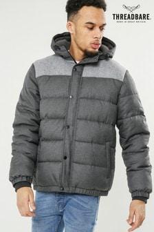 Дутая куртка с капюшоном Threadbare