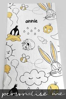 Personalised Looney Tunes™ Beach Towel by Custom Gifts