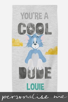 Personalised Tom & Jerry™ Beach Towel by Custom Gifts
