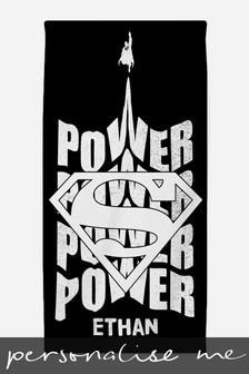 Personalised Superman™ Beach Towel by Custom Gifts