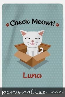 Personalised Cat Blanket by Custom Gifts