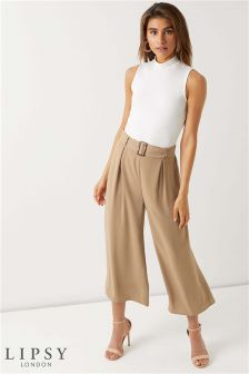 Lipsy Petite Horn Buckle Culotte Trouser